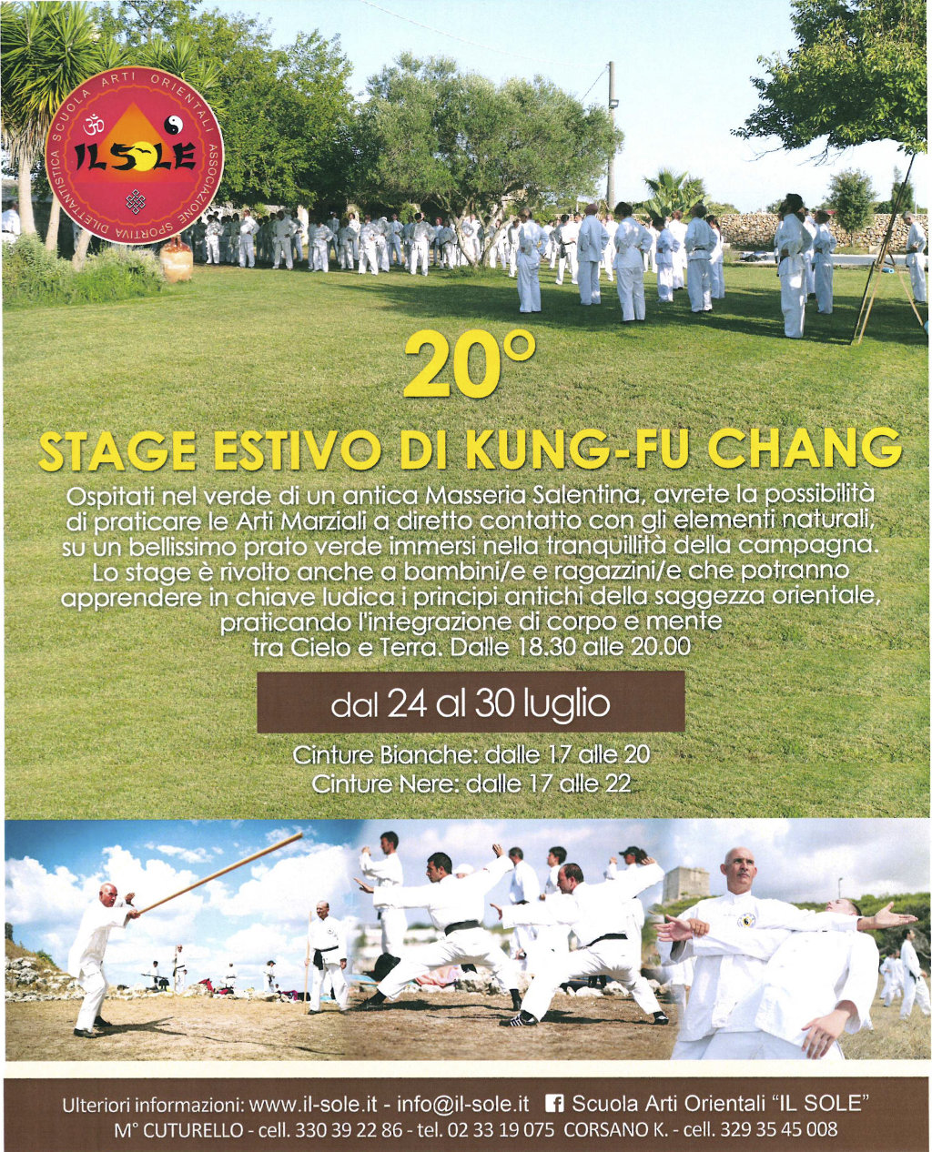 20° Stage internazionale di Kung Fu Chang