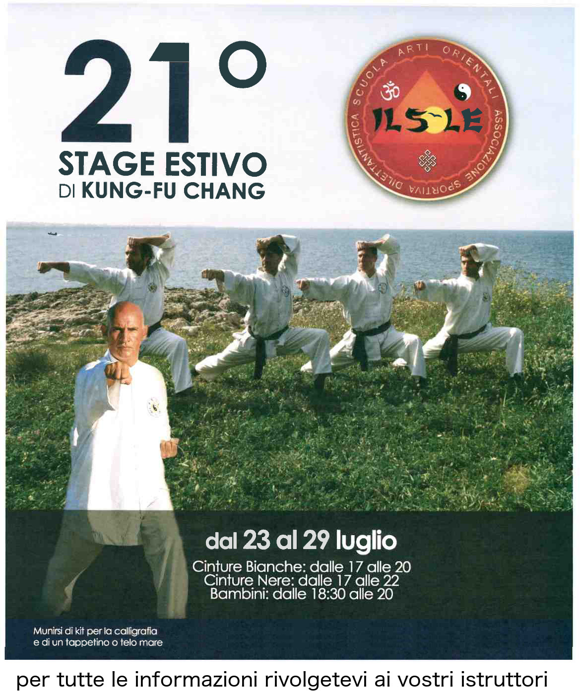 21° Stage internazionale di Kung Fu Chang
